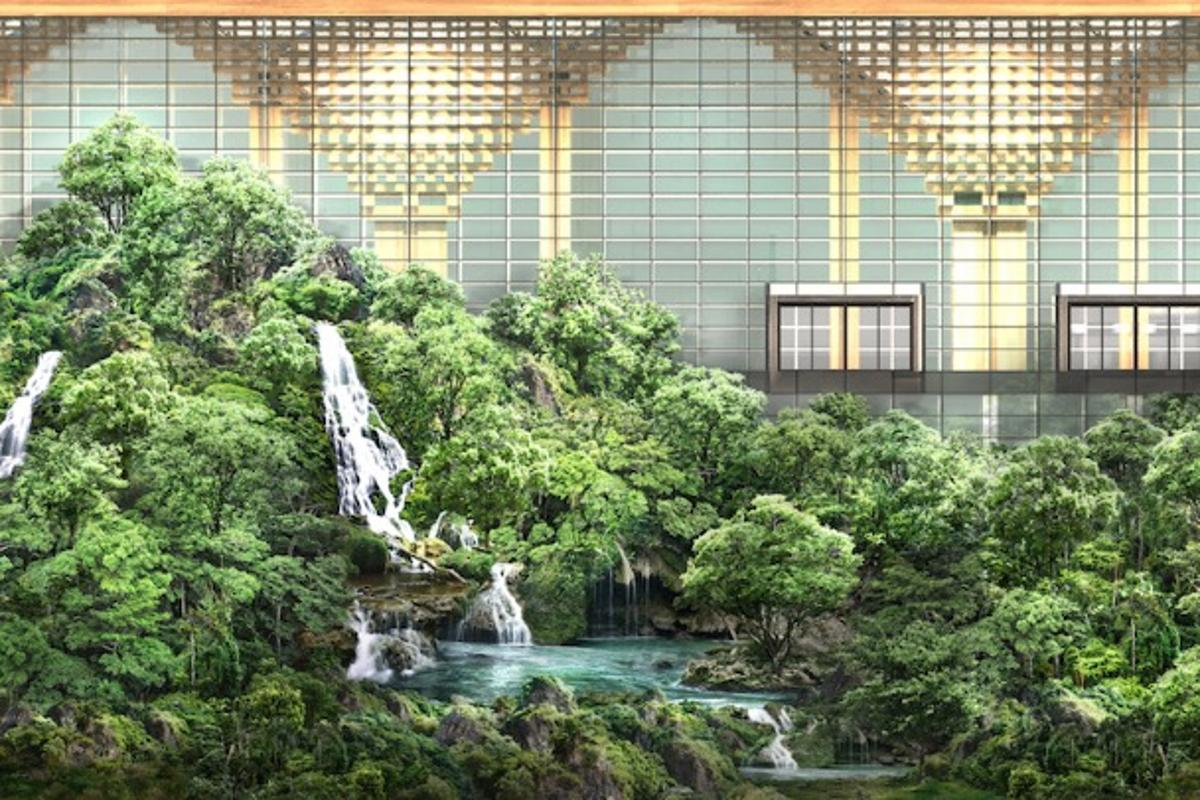 Suvarnabhumi International Passenger Terminal II will include a large 16,132 sq m (173,643 sq ft) indoor forest area, which will be accessible to both staff and passengers