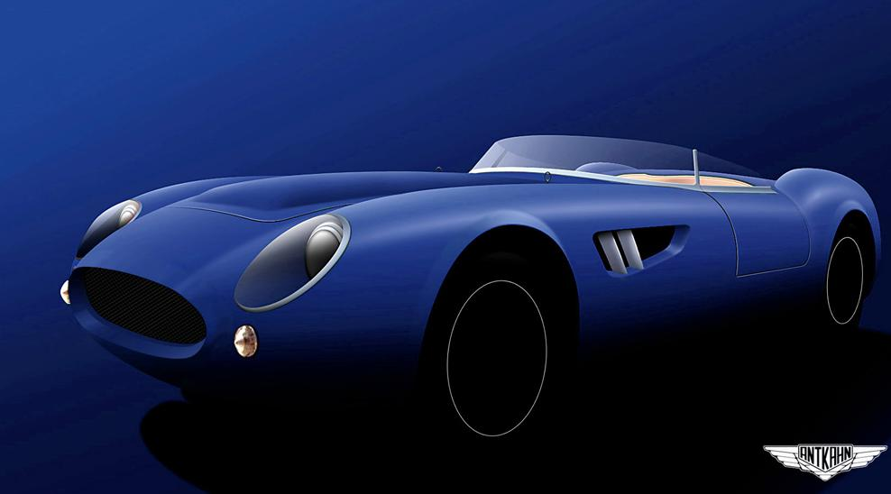 Rendering of the Ant-Kahn barchetta