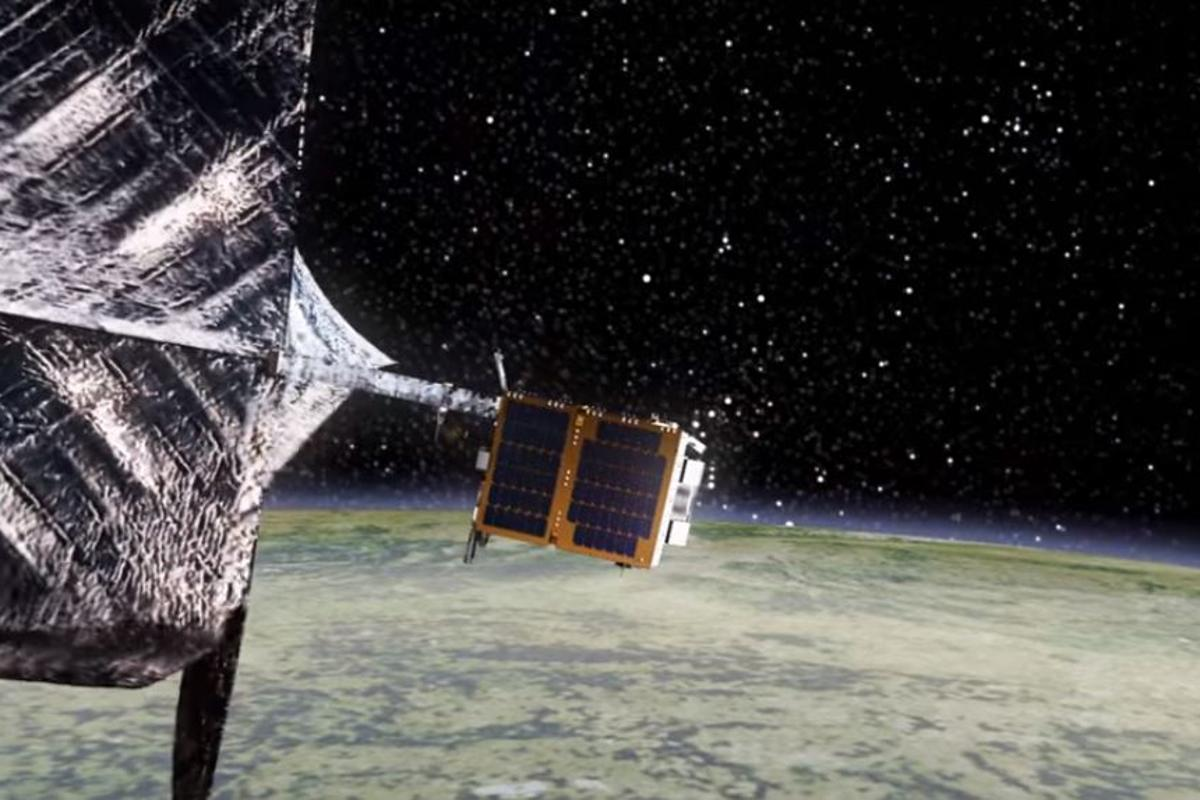 The RemoveDebris satellite will test ways of collecting and disposing of space debris