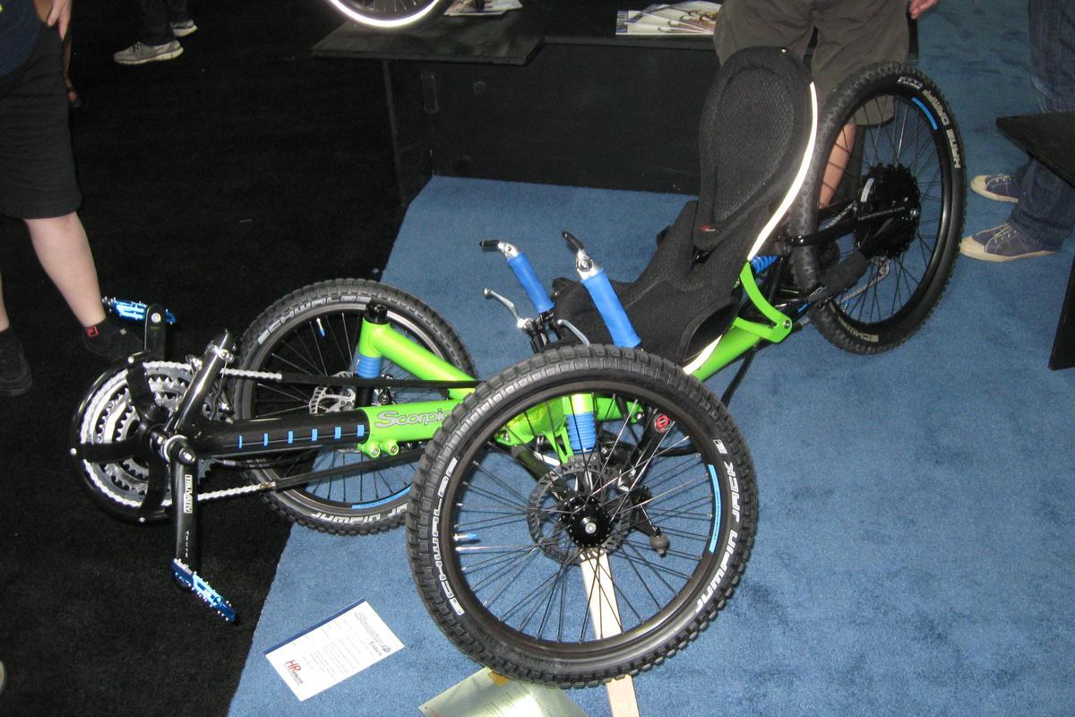 The Scorpion fs Enduro from HP Velotechnik on display at Interbike 2013