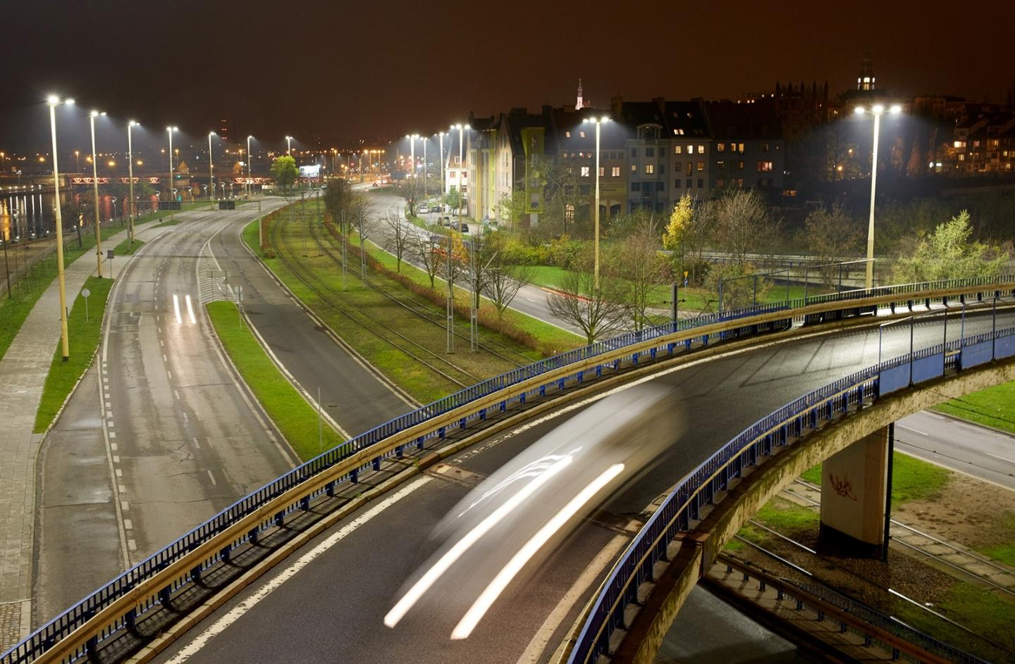 Individual street lights will each be fitted with one of Vodafone's M2M SIM cards