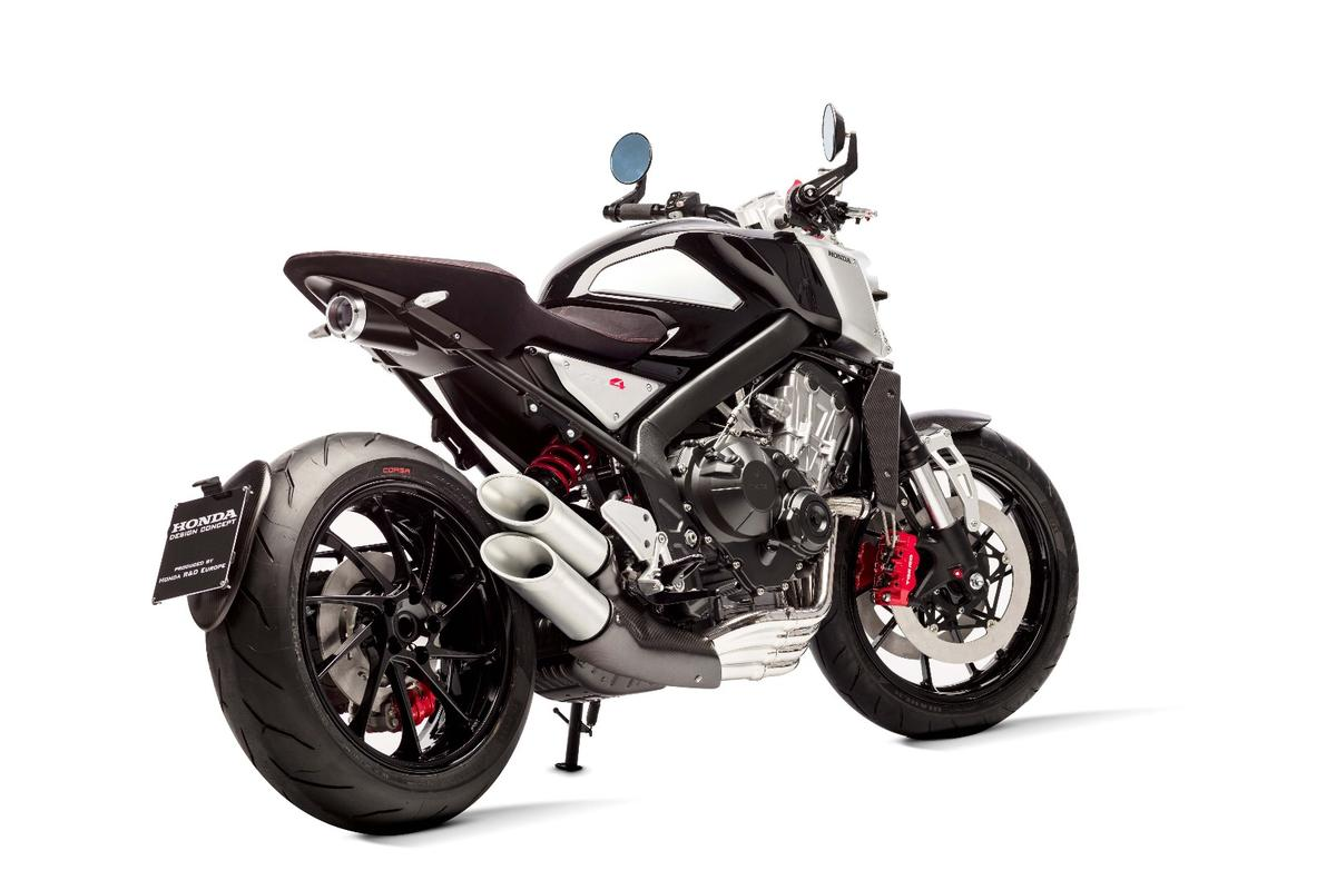 Honda CB4 concept: based on the CB650F, the CB4 takes things in a decidedly European direction