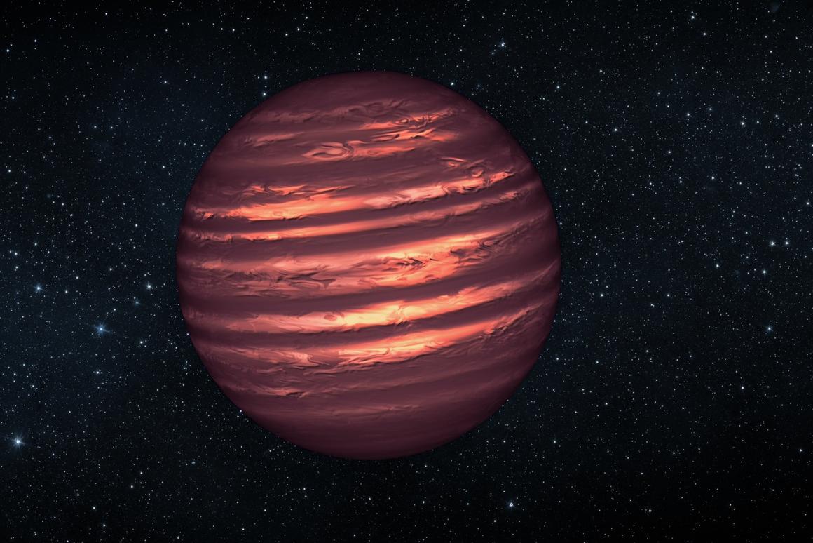 An illustration of a brown dwarf