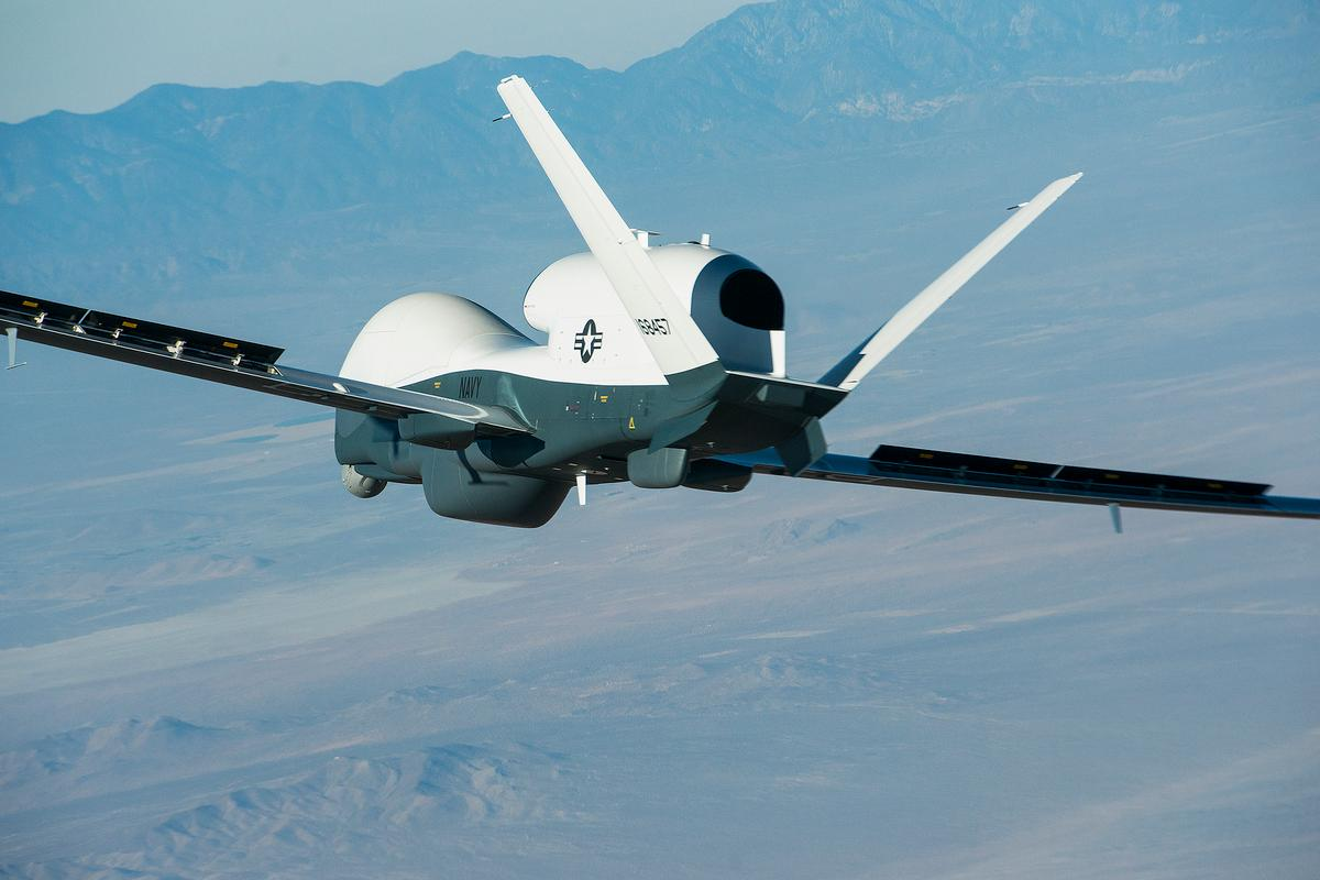 The Triton making its first flight (Photo: US Navy)