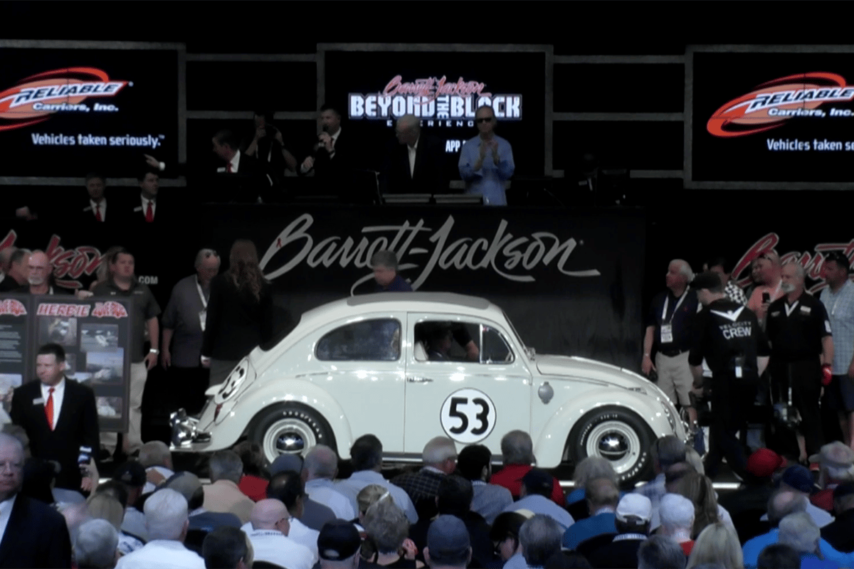 Herbie becomes the world's most expensive Volkswagen Beetle for a second time