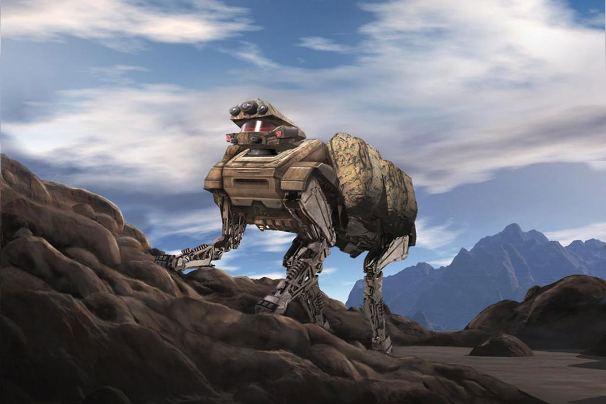 LS3 is conceived as an autonomous support pack-robot for ground troops (Image: Boston Dynamics)