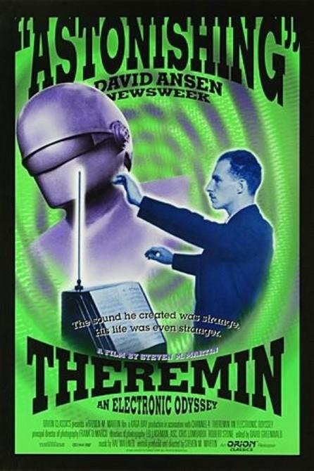 Flyer for the 1994 documentary film - Theremin: An Electronic Odyssey