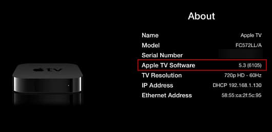 Find out which version of software is running on your Apple TV