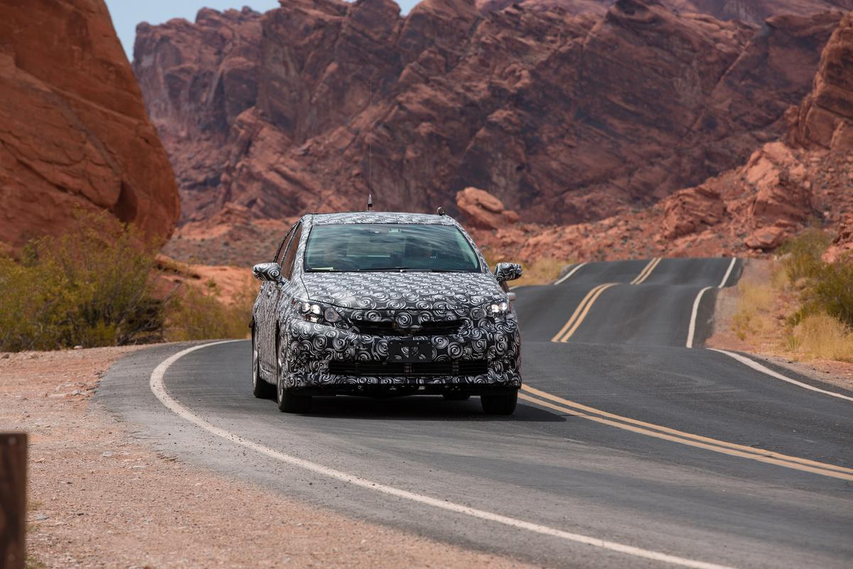 The FCV concept underwent heat testing in California's Death Valley