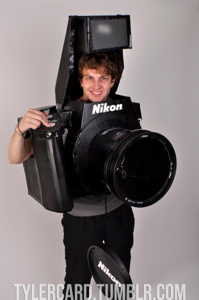 Photographer Tyler Card has made a fully functioning DSLR camera costume for Halloween (Photo: Tyler Card)