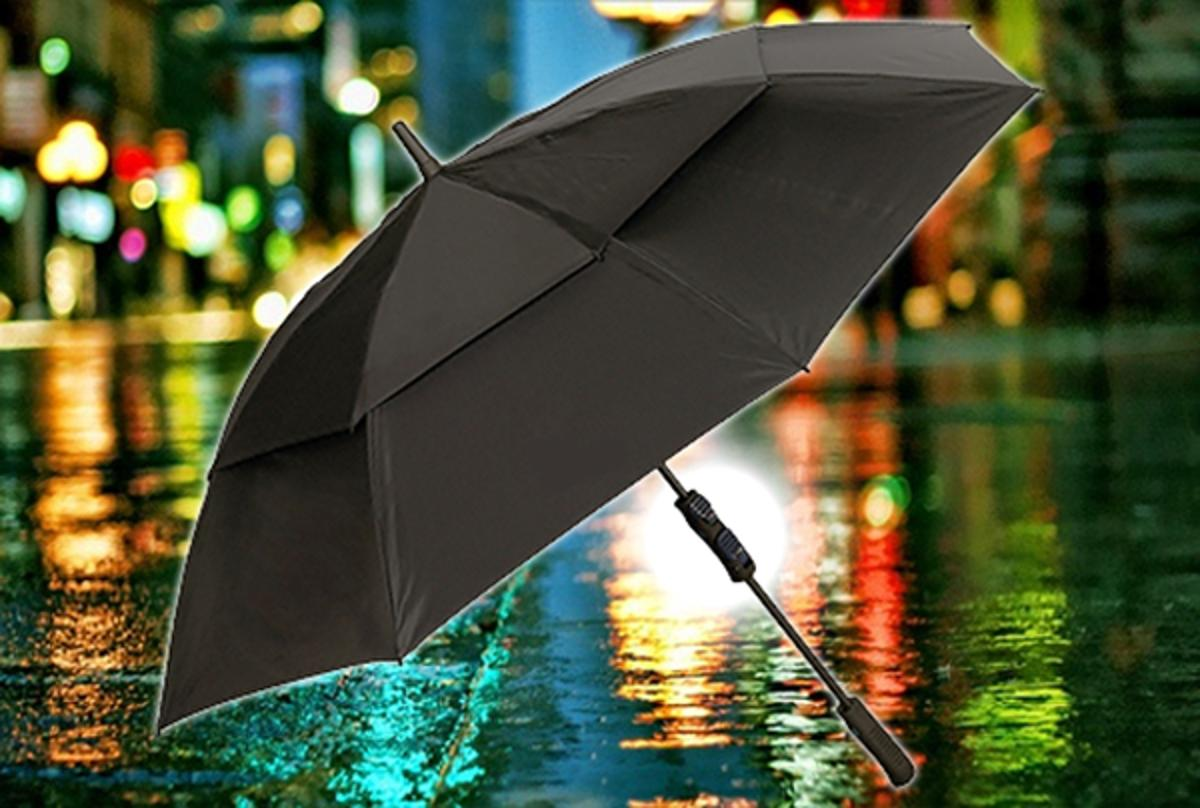 The GRIP2 Umbrella features an adjustable grip