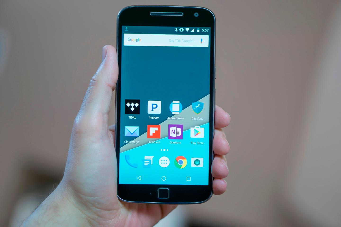 The Moto G4 and G4 Plus (pictured) have 5.5-inch, 1080p screens