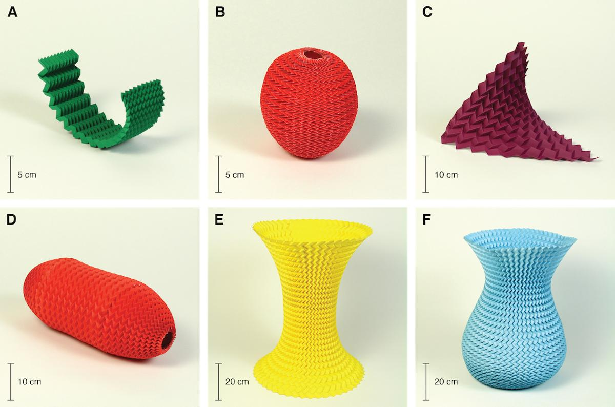 The Miura-ori fold can be used to create a variety of objects