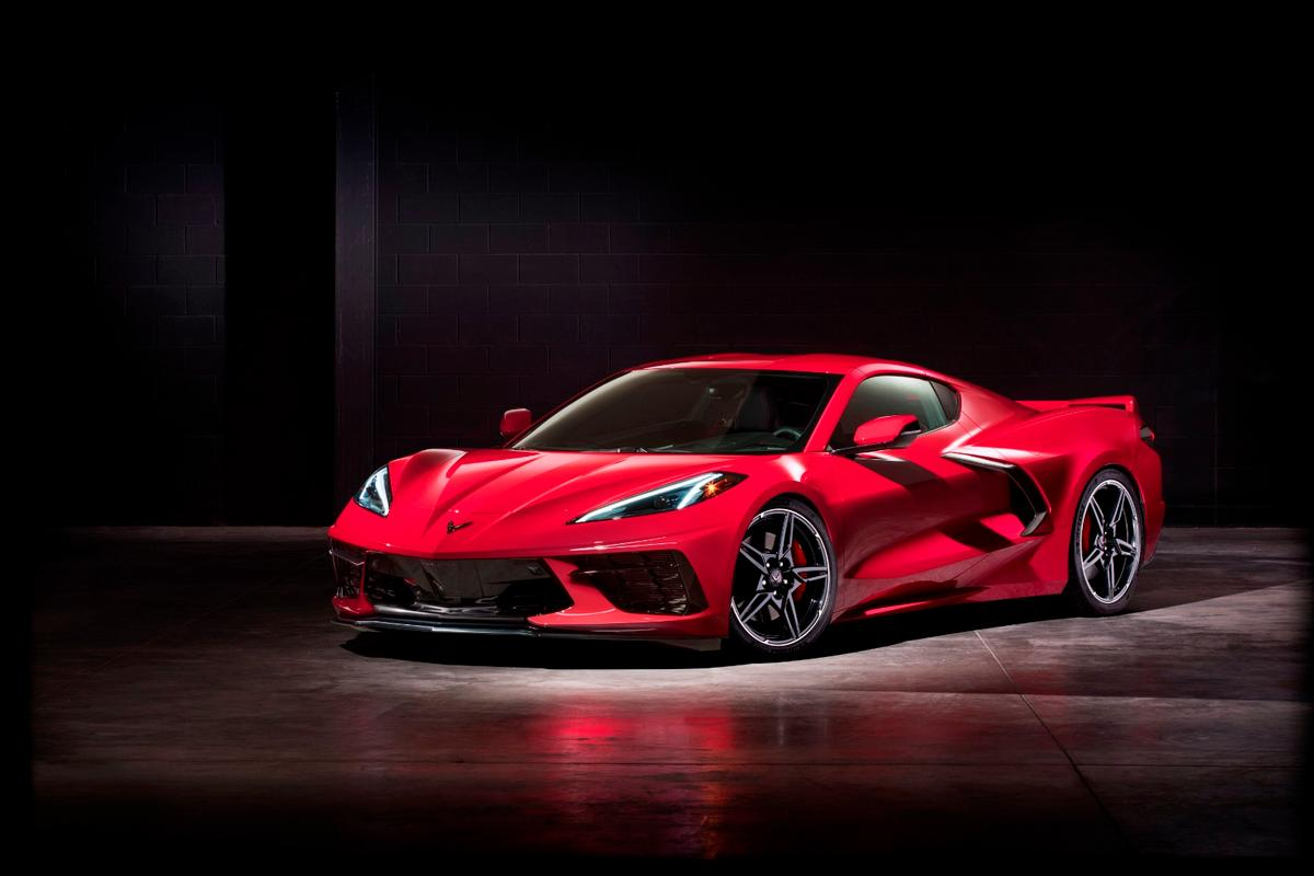 The new Corvette is a mid-engine design, putting the big growling powerhouse behind the driver instead of in front of, but retains its rear-wheel drive focus as an American sports coupe
