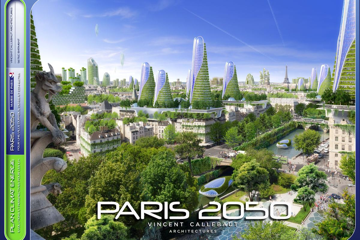 Vincent Callebaut's vision of a sustainable Paris (Image: Vincent Callebaut Architectures)
