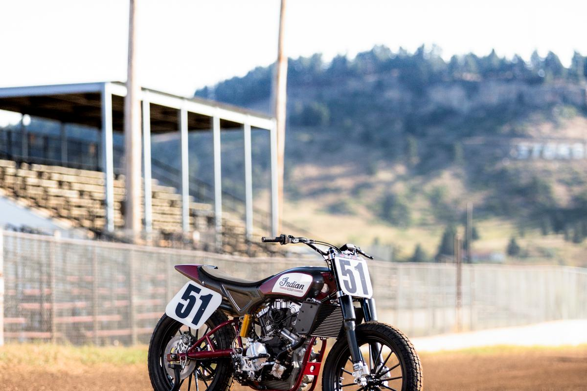 The Indian Scout FTR750 revealed at the Sturgis Motorcycle Rally