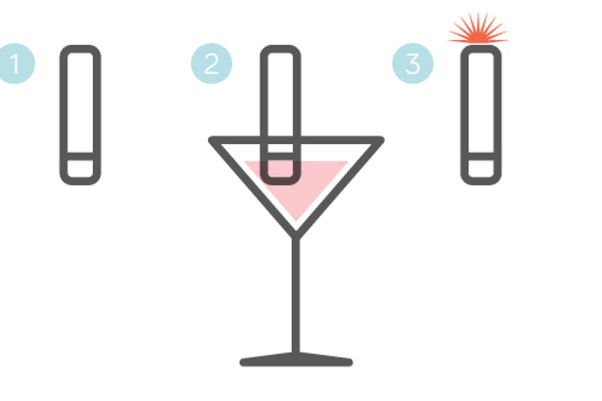 pd.id is a reusable electronic device designed to quickly determine if a drink has been spiked