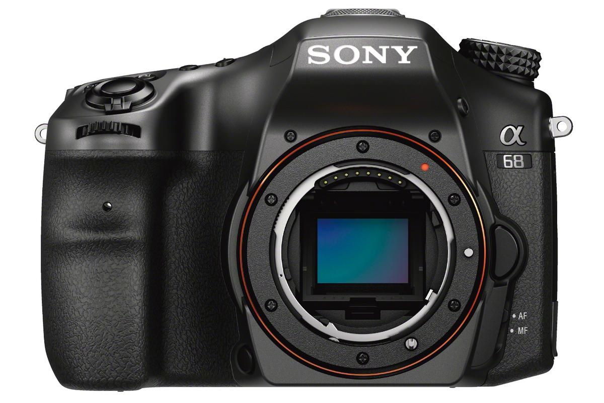 The Sony A68 inherits a number of features from the higher-end A77 II