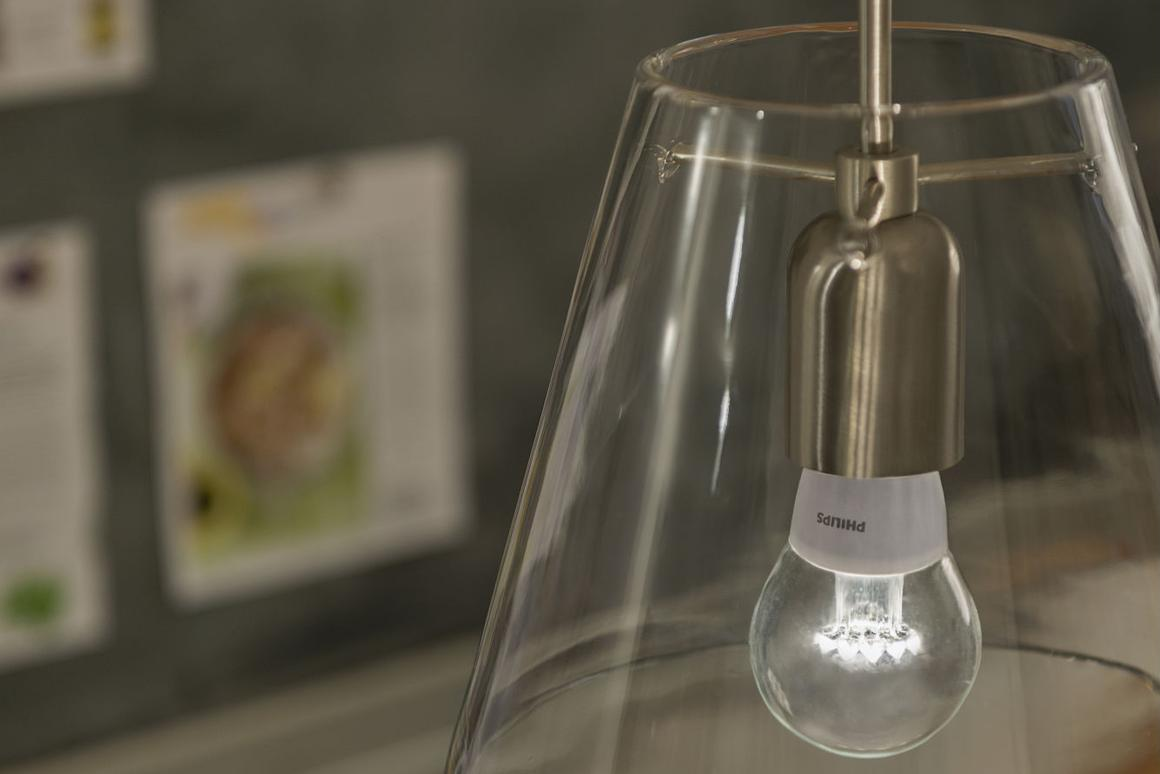 The new Philips clear LED bulb