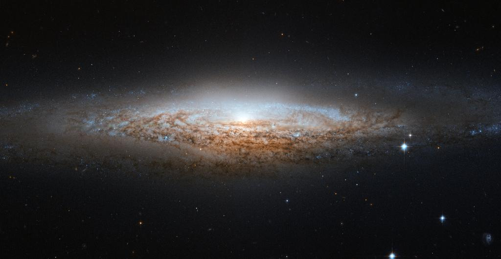 March 26, 2012: Hubble Space Telescope captures the spiral galaxy NGC 2683, seen almost edge-on (Image: ESA/Hubble & NASA)