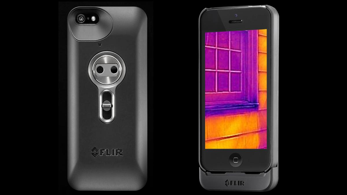 The FLIR ONE is a slide-on attachment that gives iPhones thermal imaging capabilities