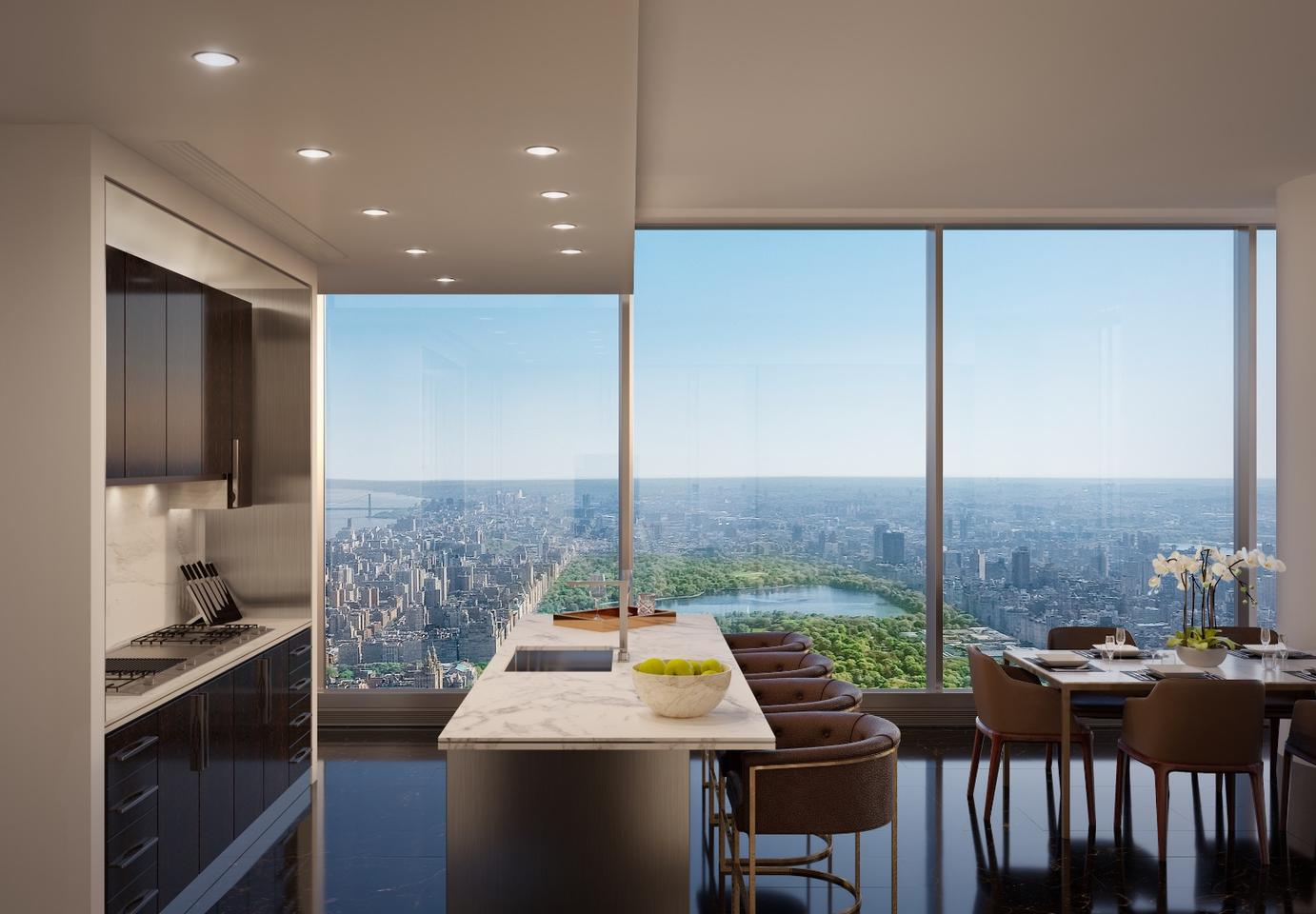Central Park Tower'sinteriors are designed by Rottet Studio, a firm that has worked onThe Surrey Hotel in Manhattan, The St. Regis in Aspen, The Beverly Hills HotelPresidential Bungalows, and more