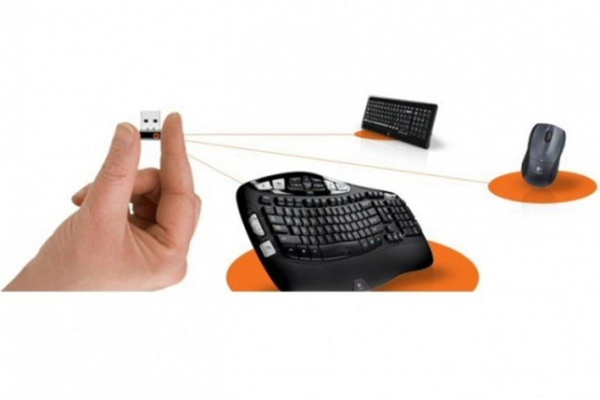 Multiple peripheral devices can be connected to a laptop, PC or Mac via one tiny USB receiver