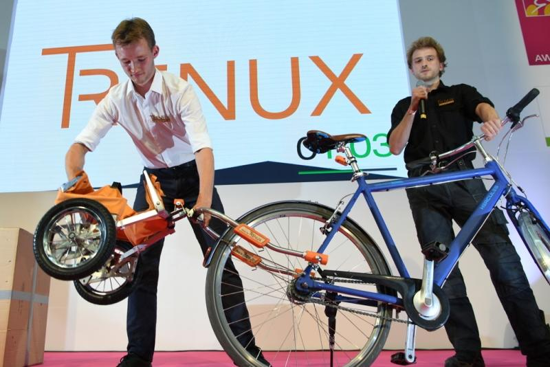 Trenux demonstrates its trailer at EuroBike