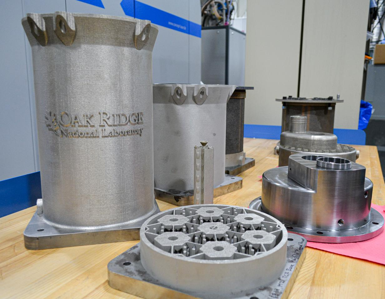 3D-printed components for the prototype reactor