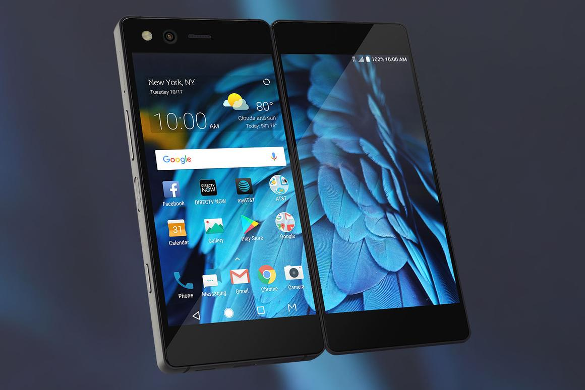 ZTE's dual-screenAxon M smartphone