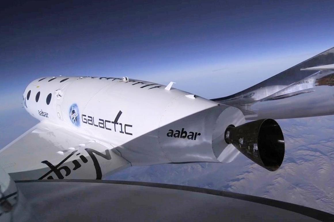 SpaceShipTwo just prior to ignition
