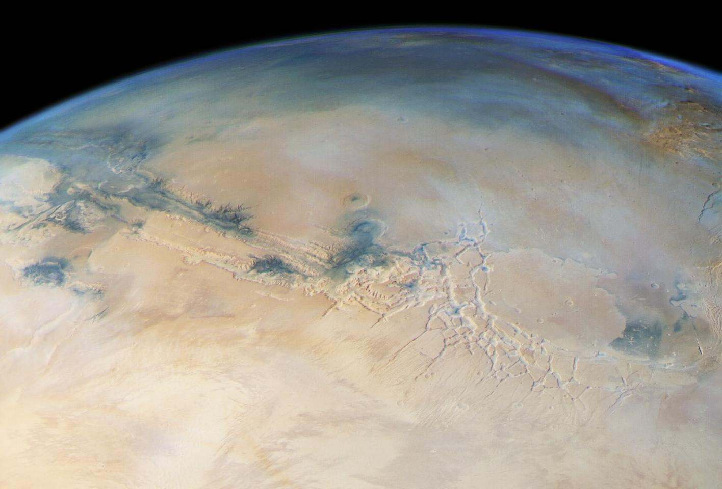 A huge liquid water lake has been found on Mars, stretching 20 km (12.4 mi) and buried beneath 1.5 km (0.9 mi) of ice at the Red Planet's south pole