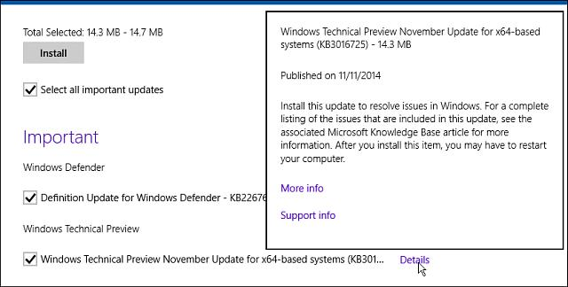 Make sure to run Windows Update after installing the latest build