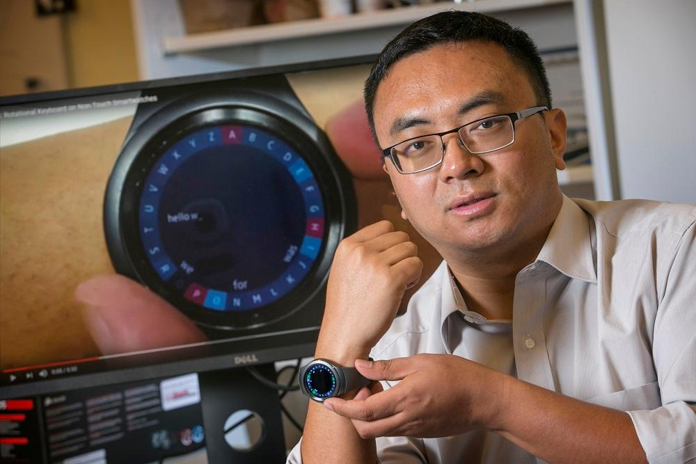 Assistant Professor Xiojun Bi is the inventor of the system