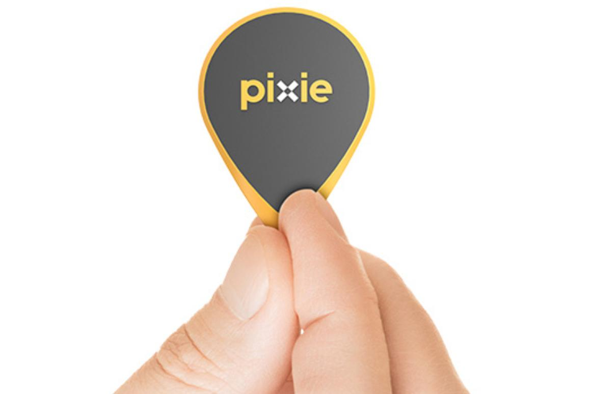 Pixie Points attach to everyday objects allowing them to be located using an augmented reality app (Photo: Pixie)