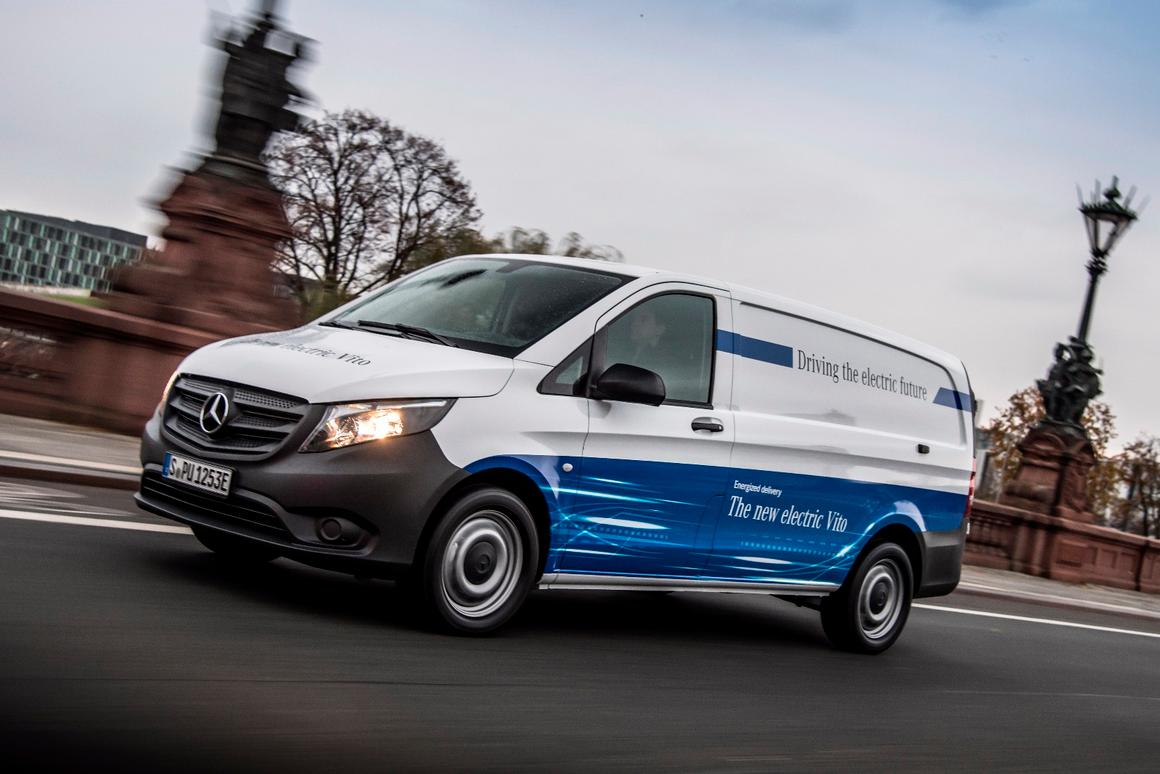 Mercedes is ditching fossil-fuels for electricity in its 2018 all-electric eVito