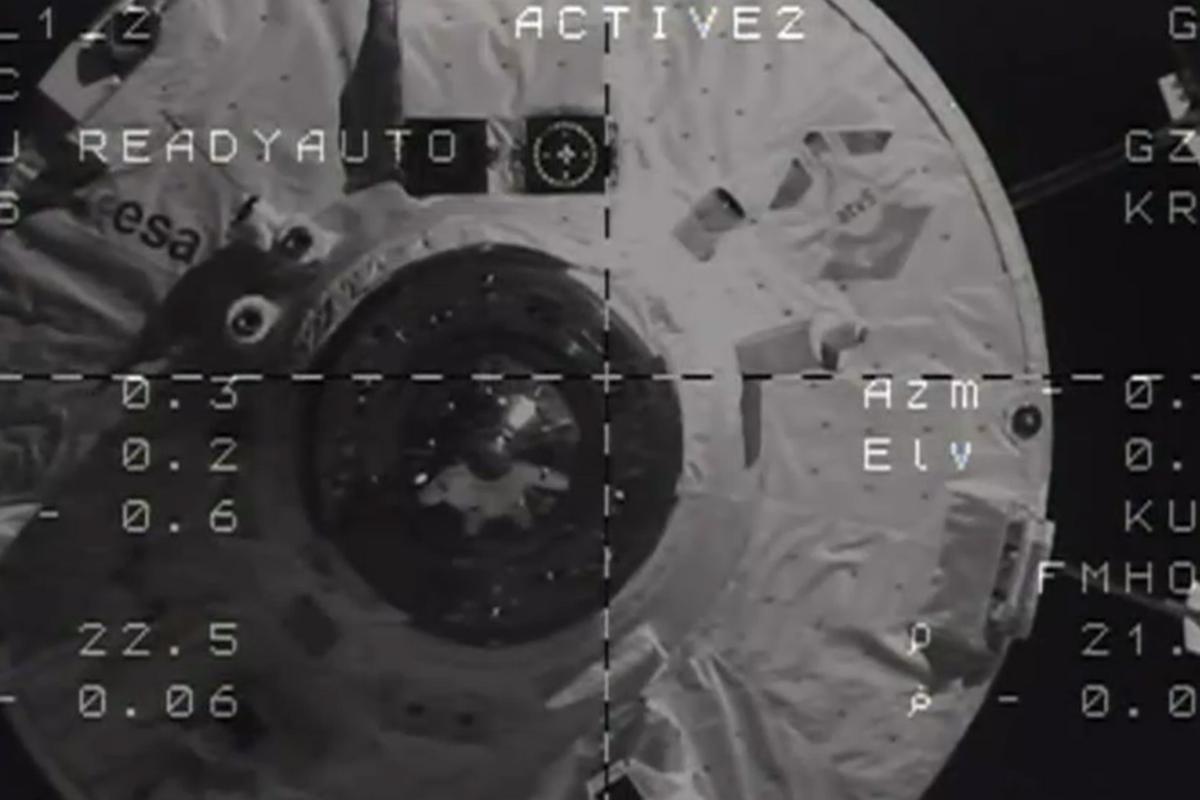 ATV-5 docks under autonomous control (Image: ESA/NASA)