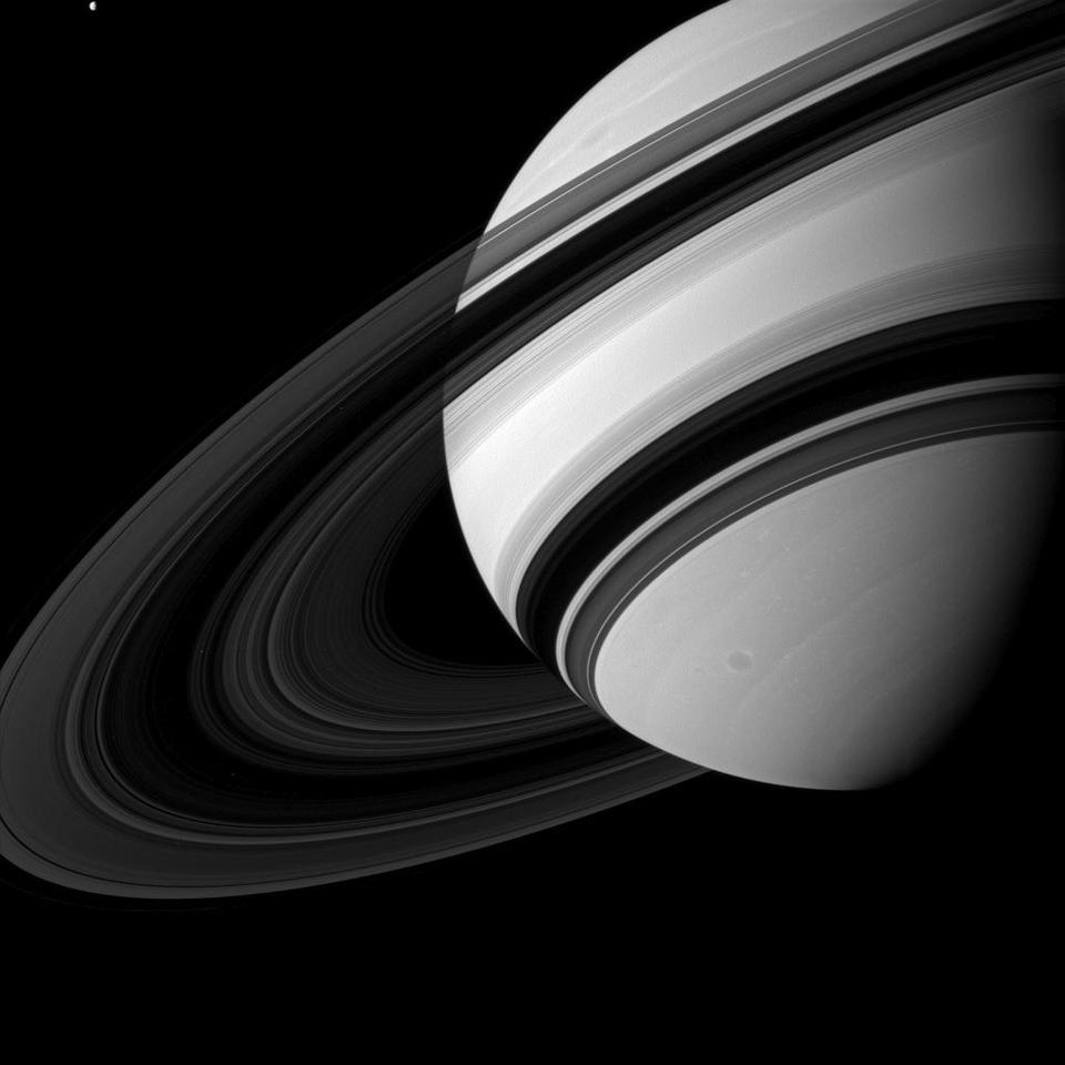 Image of Saturn taken by NASA's Cassini spacecraft on Aug. 19, 2012