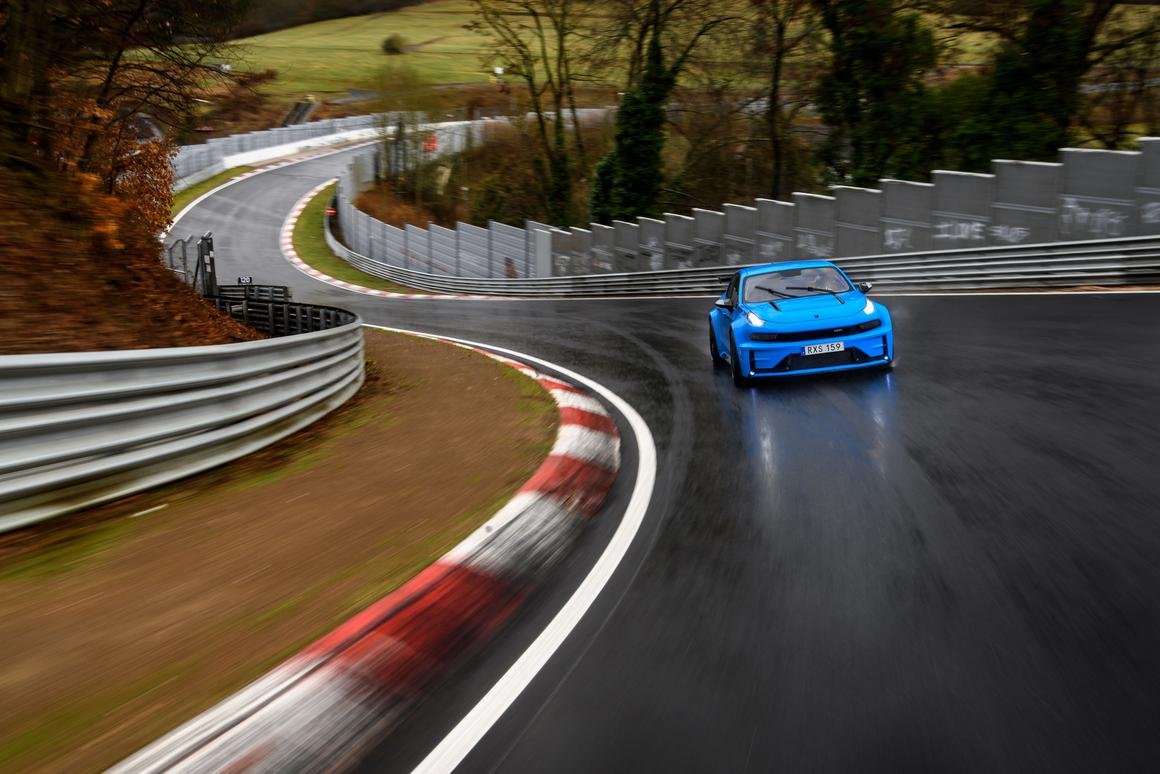Cyan Racing's Lynk & Co 03 Cyan Concet in action at Nürburgring