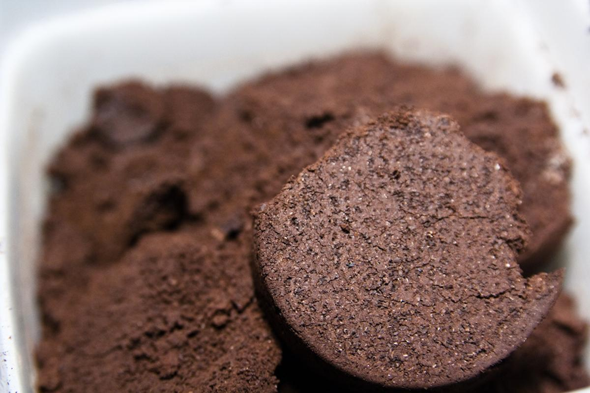 Coffee grounds like these could be used to remove harmful hydrogen sulfide gas from the air (Photo: Steven Depolo)