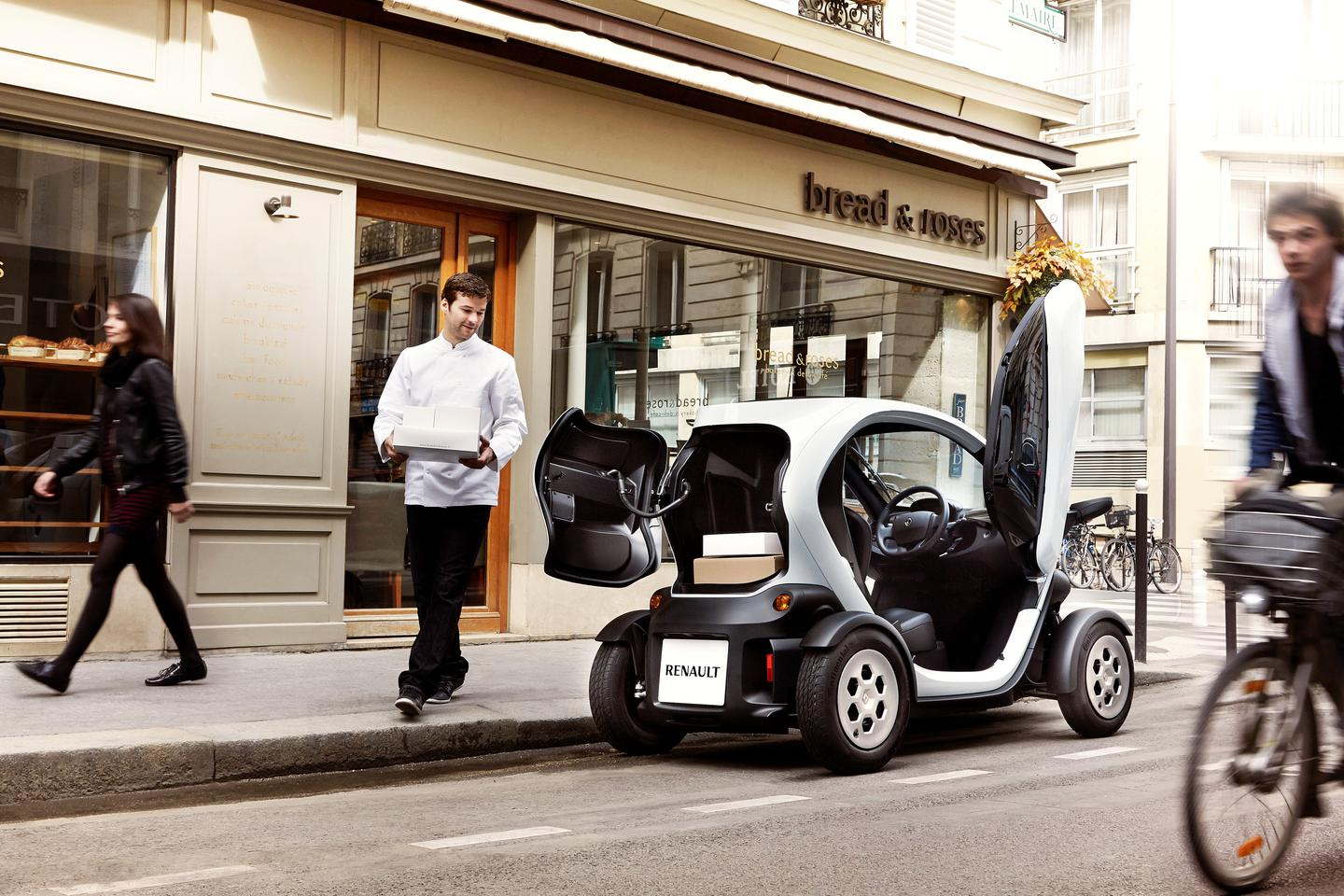 Renault has ripped out the passenger seat and modified the rear end cut-out to make a Cargo edition of its Twizy battery electric vehicle