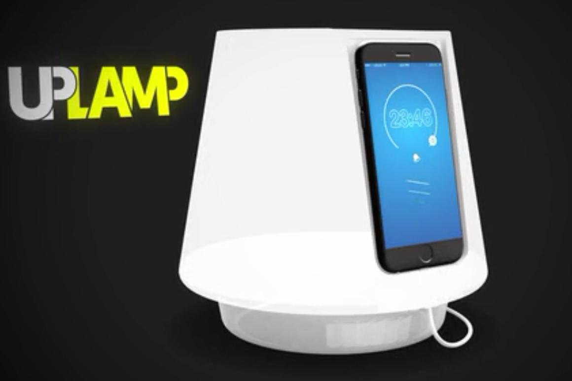 UpLamp is a smartphone dock that turns your smartphone into a bedside lamp