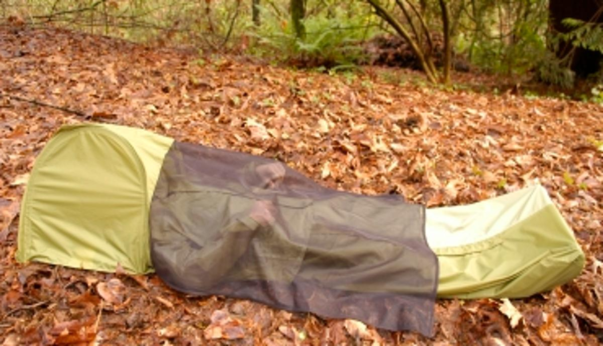 The JakPak all-in-one jacket, sleeping bag and tent