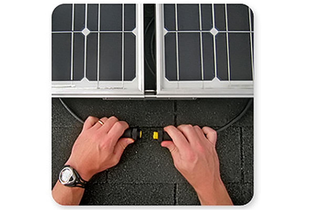 GreenRay SunSine AC modules easily connect to create arrays of any size