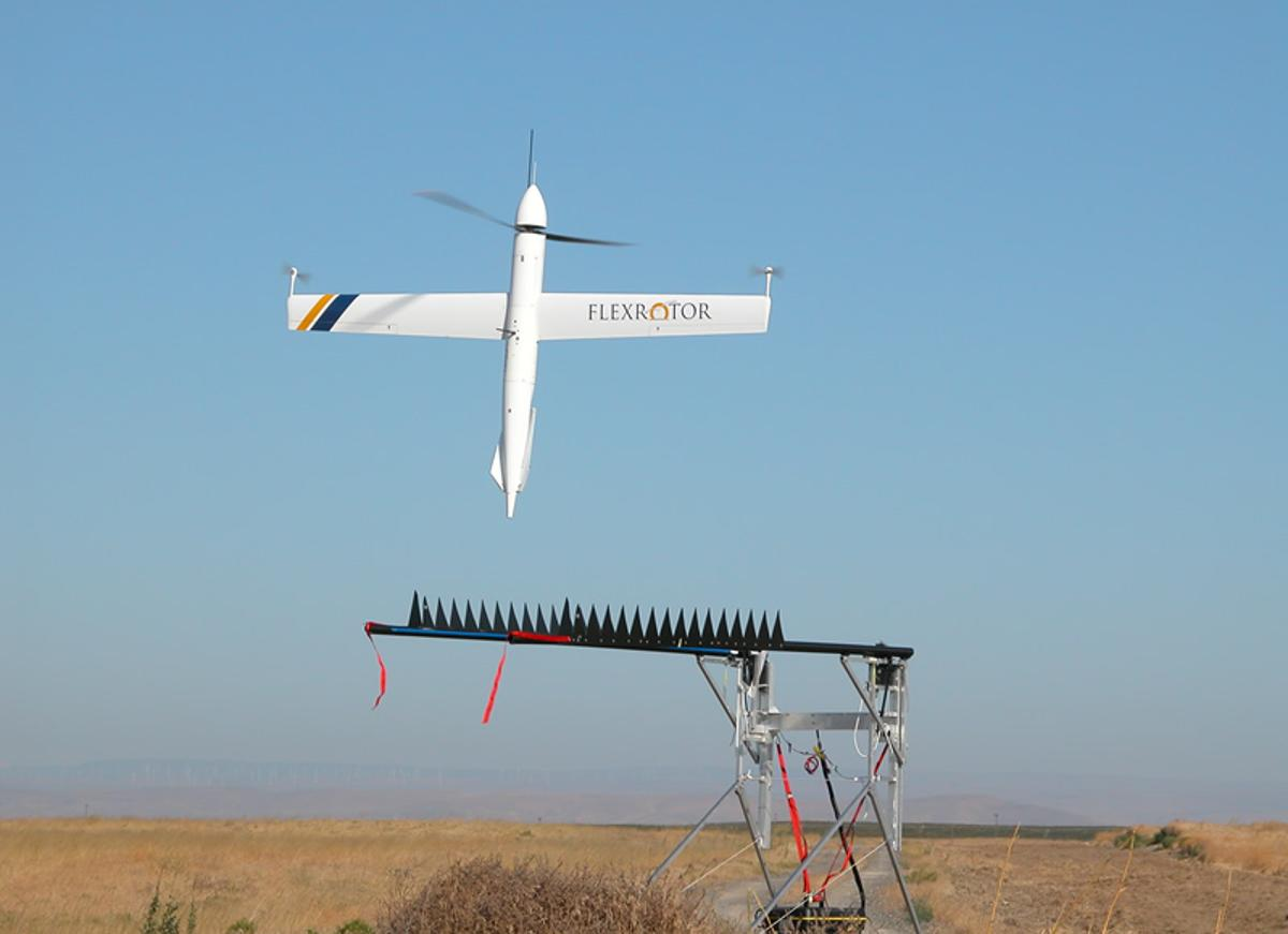 The Flexrotor takes off vertically from its launch platform