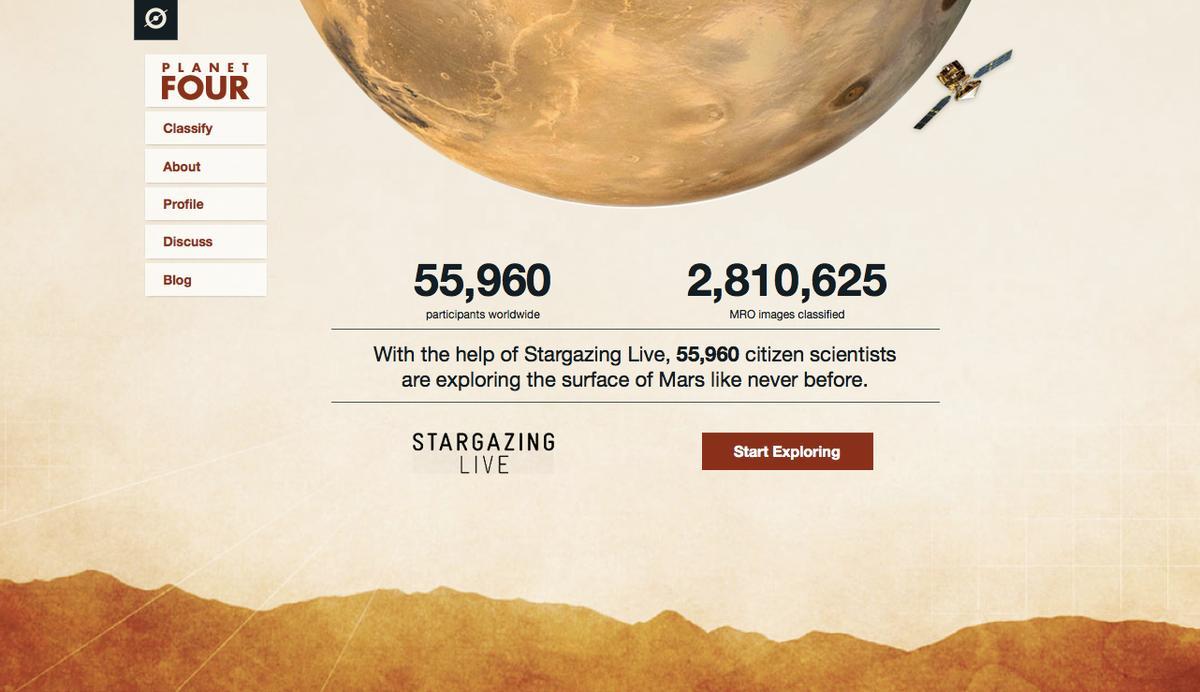 The Planet Four website