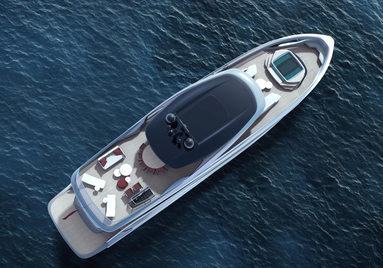 """""""The X95 breaks the mould of traditional yacht design,"""" says Antony Sheriff, Executive Chairman of Princess Yachts."""