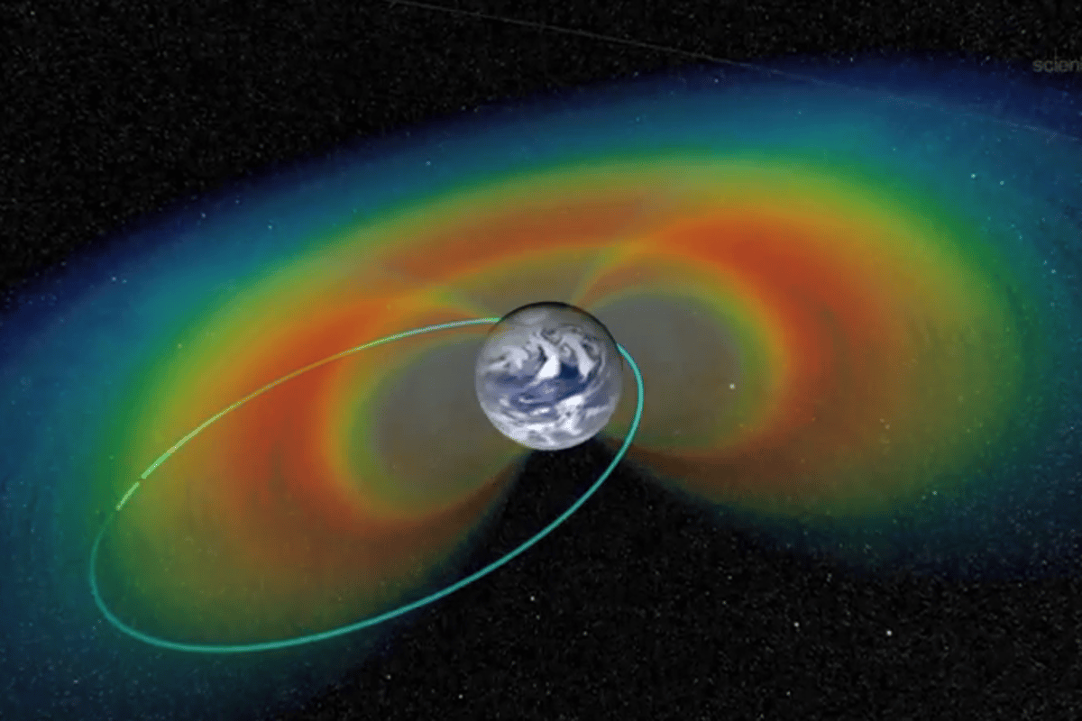 Orbit of the RBSPs in the Van Allen Belts (Image: NASA)