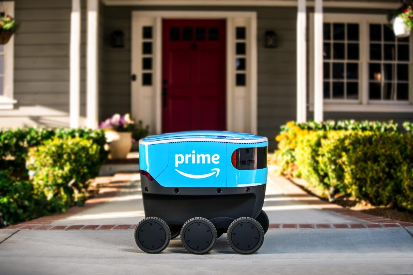 Amazon's delivery robot, named Scout