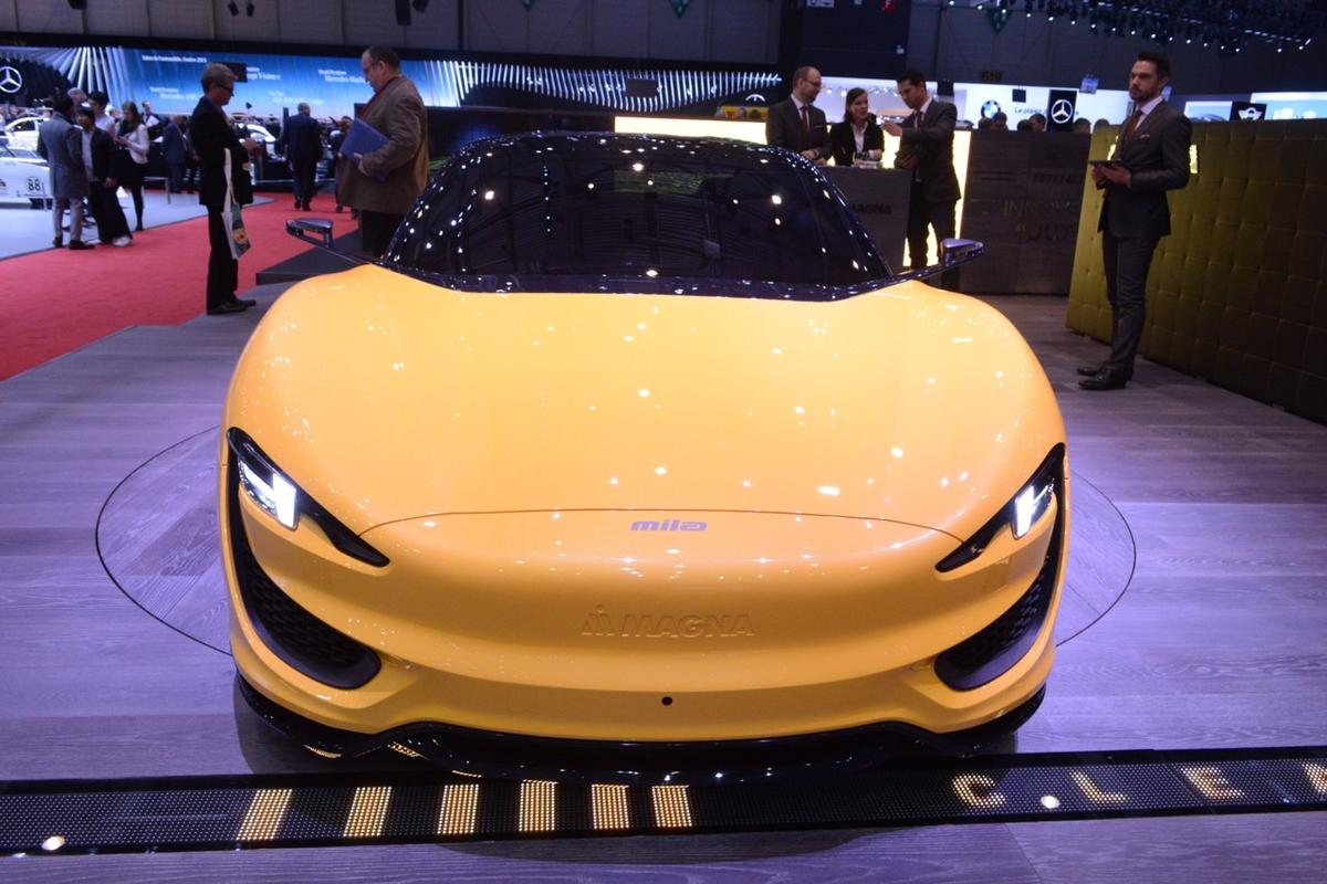 The Magna MILA Plus at the Geneva Motor Show (Photo: CC Weiss/Gizmag)